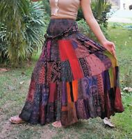 Patchwork Maxi Skirt * Boho Hippie Gypsy Long Tiered * Multi Coloured * Unique *