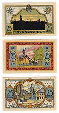 * Notgeld-Zeulenroda 3 x 25 peniques 1921