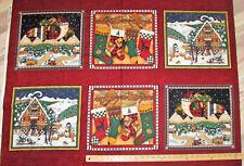 "North West Santa Debbie Mumm Christmas Fabric Panel 23""  #67011"