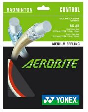 Genuine Yonex Aerobite Badminton Racket String - White / Red - Hybrid