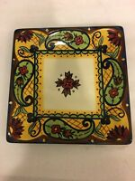 "Vintage Corsica Crown Jewel 8.5"" Square Salad Plate"