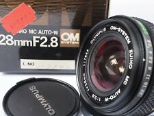 OLYMPUS OM ZUIKO AUTO-W MC 28MM F2.8 WIDE - FULL SET -  BEAUTIFUL CONDITION