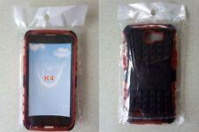 Prova di Shock Armatura Ibrida Gorilla STAND CASE LG K4 Telefoni Cellulari Rosso