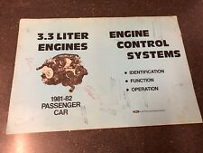 New listing 1981-1982 Ford 3.3 Liter Engines Passenger Car Engine Control Systems Manual