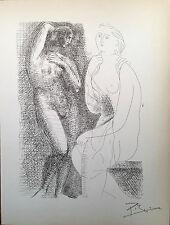 Pablo Picasso Suite Vollard rara Litografía original firmada a mano de 1956