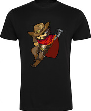 Overwatch McCree T-Shirt - Gaming Xbox PS4 Nintendo Gift Birthday Christmas Gun