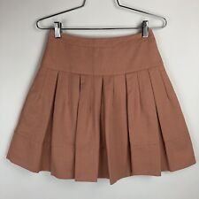 BCBG Maxazria Women's Skirt Size XXS Blush Lined with Pockets Flare