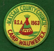 BOY SCOUT CAMP PATCH - 1963 CAMP WAUWEPEX - NASSAU COUNTY COUNCIL