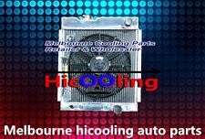 3 row aluminum radiator & fan for Ford MUSTANG V8 289 302 WINDSOR 1964 1965 1966