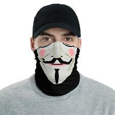 Guy Fawkes Anonymous Neck Gaiter Face Shield Scarf Bandana Headband Medic EMT