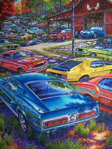 FORD MUSTANG RANCH ART 1969 BOSS 302 1968 GT 350 500 428 COBRA CSX SUNBEAM TIGER