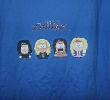 Steel Panther South Park Crossover Characters Blue T Shirt Rare Size L