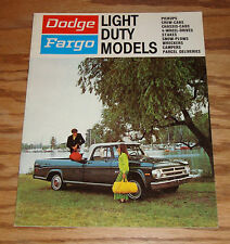Original 1970 Dodge Fargo Light Duty Truck Models Sales Brochure - Canadian 70