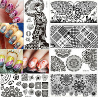 Nail Art Manicure Stamping Image Plate Stainless Steel Template Harunouta Series