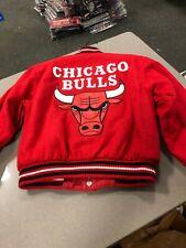 Chicago Bulls NBA Jacket  J H DESIGN  YOUTH/BOYS  WOOL JACKET REVERSIBLE RED