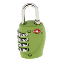 TSA Approved Luggage Travel Suitcase Lock 4 Digit Combination Padlock Green