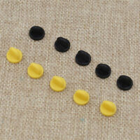 Pack of 25 Rubber Badge  Lapel Hat Tie Tack Pin Back Holder Clasp Black Yellow