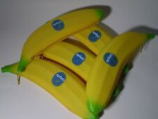 RARE 5 X COLLECTIBLE CHIQUITA BANANA TUPPERWARE , KEEPER ,LUNCH CASE ,WALLET!