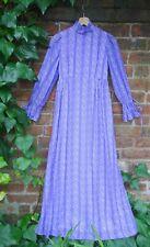 Vintage 1970s Printed Cotton Prairie Folklore Maxi Dress