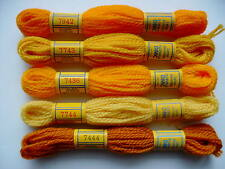 DMC TAPESTRY THREADS 5 colors ORANGES (set G)