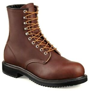 """Red Wing 2233 Supersole Mens 8"""" Inch Leather Steel Safety Toe Work Boot US 10 E3"""