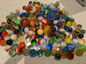 Vintage Antique Lot Of Marbles: Mix- 200 Total Marbles