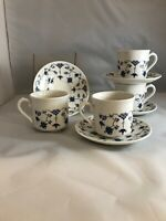 Churchill Finlandia 4 Smooth Edged Cups & Saucers *  Made in England (D3)