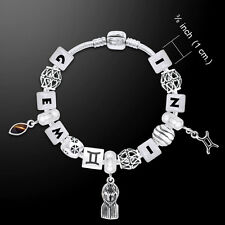 Gemini Astrology Bead .925 Sterling Silver Bracelet Peter Stone