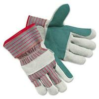 Mcr Safety MPG1211J Double Leather Palm Gloves - Cut Resistant, Abrasion