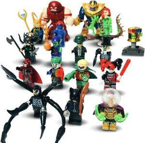 Marvel Minifigures bundle Venom Hulk Villains batman Mini Figures fit Lego Joker