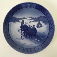 1964 Royal Copenhagen Christmas Plate Fetching the Christmas Tree - Denmark