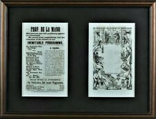 MAGIC Handbill Guaranteed Genuine 1870s - 2 Sided - Plus copy of Magic Mag.