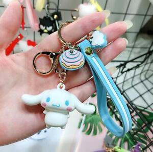 1PC Cute Blue Cinnamoroll Keychain Key Chain Fob Keyring Bag Purse Lovely Gift