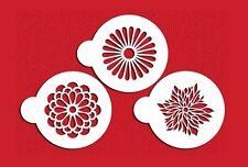 FIORI PER TORTE CUPCAKE Stencil Stencil Cookie Flessibili Set 3 PEZZI