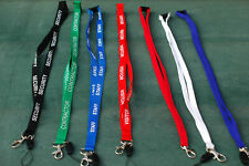 LANYARDS - FITTED SAFETY CLIP - PRINTED & PLAIN