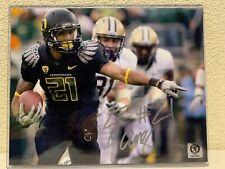LaMichael James Signed Oregon Ducks 8x10 Photo AMSM