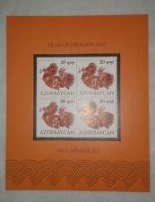 Rare 2012 AZERBAIJAN DRAGON ZODIAC Lunar New Year MS Stamp MNH