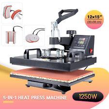5-in-1 Heat Press Machine 360 Swivel Multifunction Industrial Press 12x15in