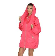 New VERSACE Pink Silk Trench Coat with Flag Print lining 38 - 4