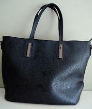 Blue Handbag Tote Shoulder Bag Zipped