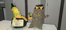 2 Hallmark Halloween Animated Decorations Tree With Owls And Frogs In Calderon