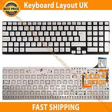 New Sony VPC-SE1E1E/S VPC-SE290X Laptop keyboard UK Layout Silver - No Frame