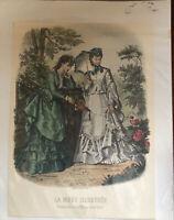"""Victorian Vintage Fashion Print  """"La Mode Illustree"""" Paris"""