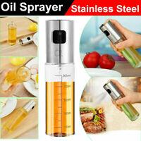 100mL Leakproof Stainless Steel Olive Oil Sprayer Kitchen Oil Spray Bottle Tool