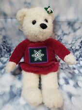 """Hallmark Christmas Mistletoe Magnetic Kissing Bear 9"""" Girl Only White - B130"""