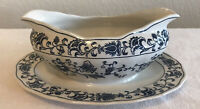 Double Phoenix Ming Tree Gravy Boat Attached Underplate Made in Japan