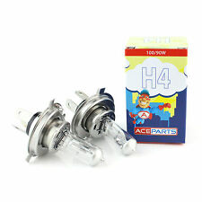 2x H4 [472/P43T] 100w Clear Xenon Headlight Bulbs 12v