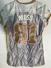 Reebok Women's NFL Jersey New England Patriots Randy Moss Gold Flirt sz L