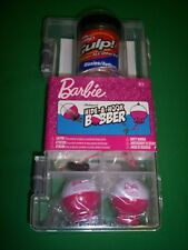 Shakespeare Barbie Hide-A-Hook Bobber Fishing Tackle Box Gulp Waxies