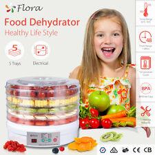 Flora 5 Trays BPA Free Food Dehydrator Furit Beef Jerky Dryer Maker Household